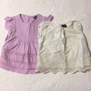 2 piece baby gap blouse bundle